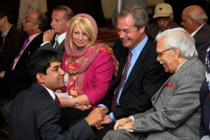 Bhutto With Nigel Farage and Jane Collins