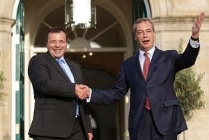 Bristol businessman Aaron Banks with UKIP leader Nigel Farage