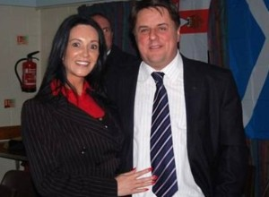 Claudia with Nick Griffin