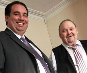 Dudley UKIP Organiser Bill Etheridge (left) with new recruit Steve Daniels