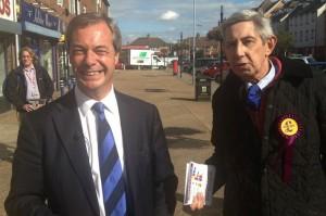 Robert Ray with Nigel Farage
