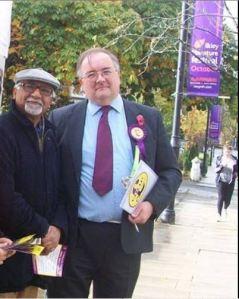 Steve Wells With Yorkshire EU Candidate Amjad Bashir