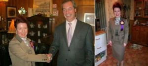 Tracy Jane Quarrington With UKIP Leader Nigel Farage