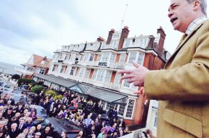 Party say 500 Ukip supporters came to Thanet on Sunday - but wouldn't have shouted abuse